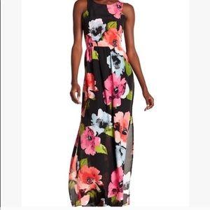 Vince Camuto floral side slit maxi dress